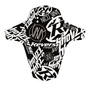 Reverse Mudguard-Ride Schutzblech Fucking Downhill schwarz//weiß
